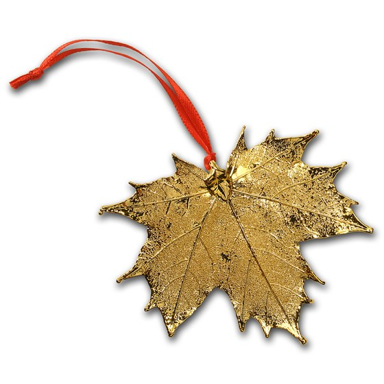 Nature's Gold Yellow Gold Maple Leaf Ornament