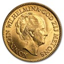 Netherlands Gold 10 Guilders (Random) BU