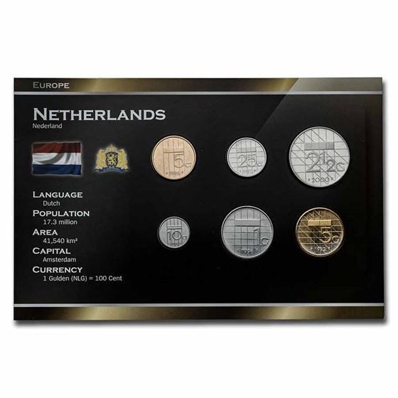 Netherlands Pre-Euro 6-Coin Set BU