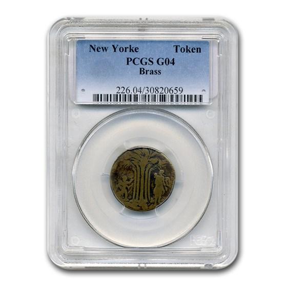 New Yorke Token Good-4 PCGS (Brass)