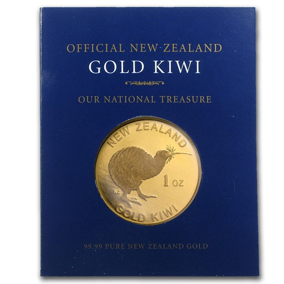New Zealand 1 oz Gold Kiwi .9999 (In Blue Assay Card)