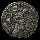 Nezak Huns Silver Dirhem (515-650 AD) VF