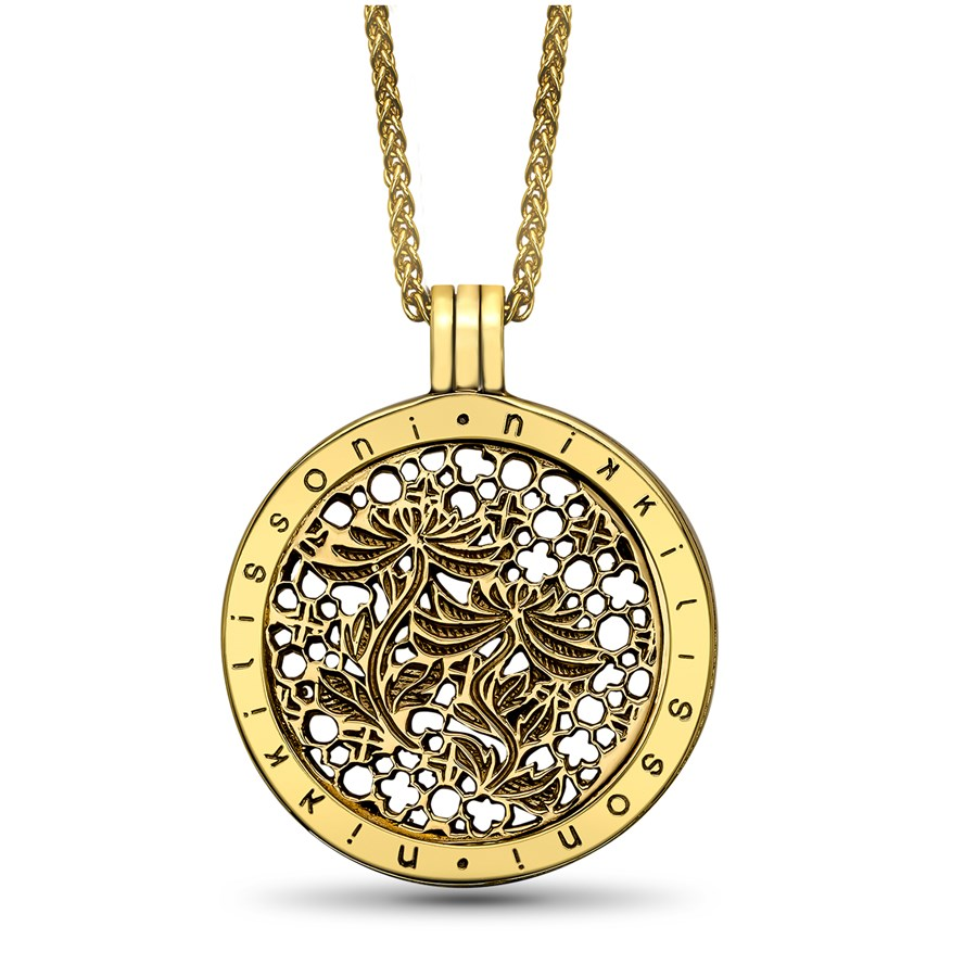 """Nikki Lissoni """"Paradise in Me"""" Gold Plated 33 mm Pendant w/Chain"""