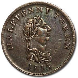 Nova Scotia 1815 Half Penny Token XF