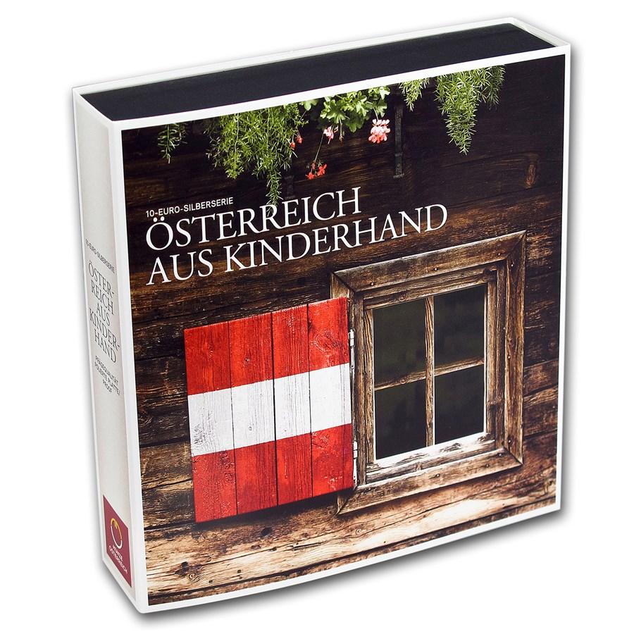 OGP Box - 2012-2016 Austria 9-Coin Silver Piece by Piece Case