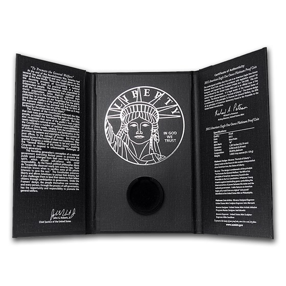 OGP Box - 2013 1 oz Platinum Eagle Proof Preamble Coin (Empty)
