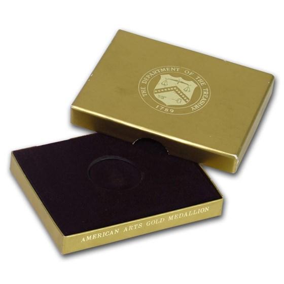 OGP Box & COA - 1 oz Gold Commemorative Arts Medal Willa Carter