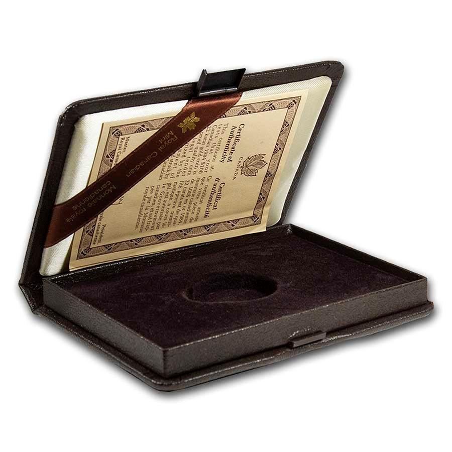 OGP Box & COA-1984 Canada 1/2 oz Gold $100 Jacques Cartier(Empty)
