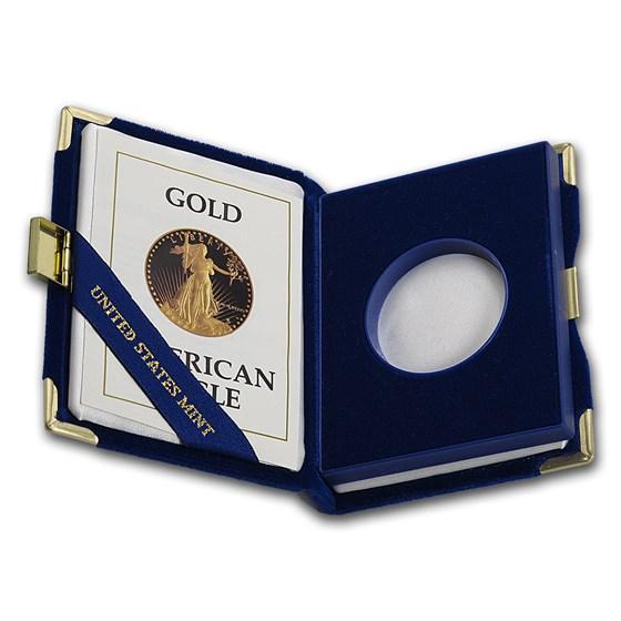 OGP Box & COA - 1987 1/2 oz Proof Gold American Eagle