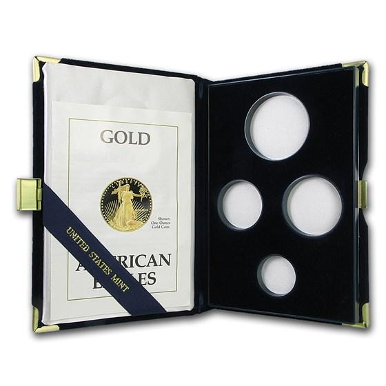 OGP Box & COA - 1989 4-Coin Proof Gold American Eagle Set