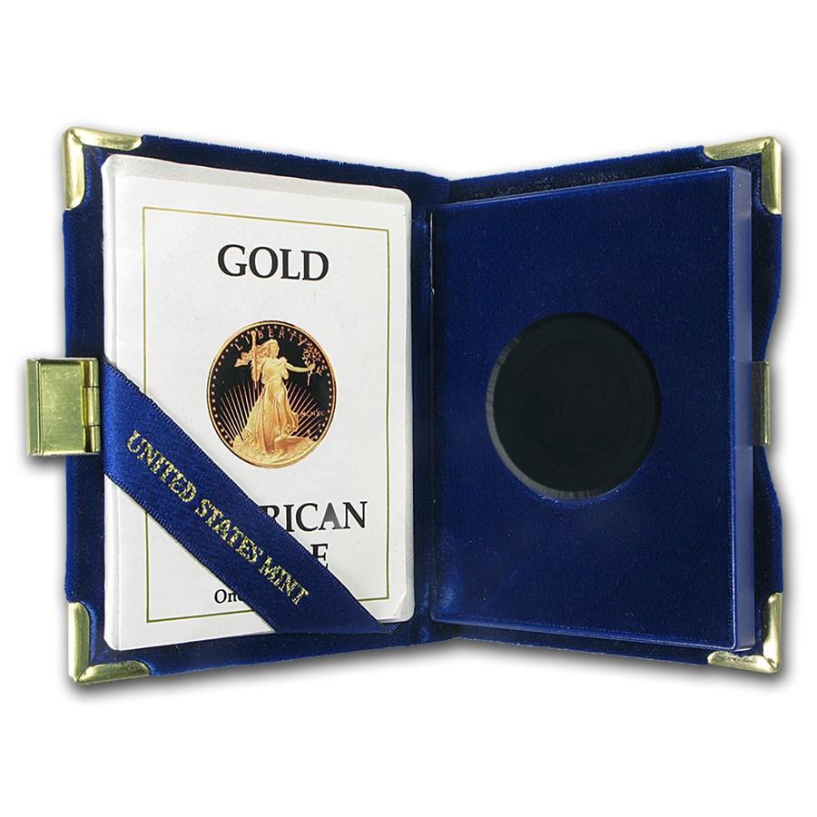 OGP Box & COA - 1990 1/2 oz Proof Gold American Eagle (Empty)