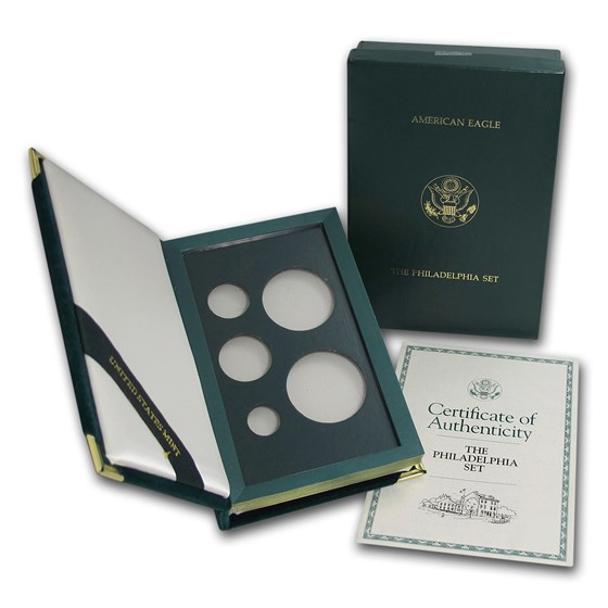 OGP Box & COA - 1993 5-Coin Philadelphia Mint Proof Eagle Set