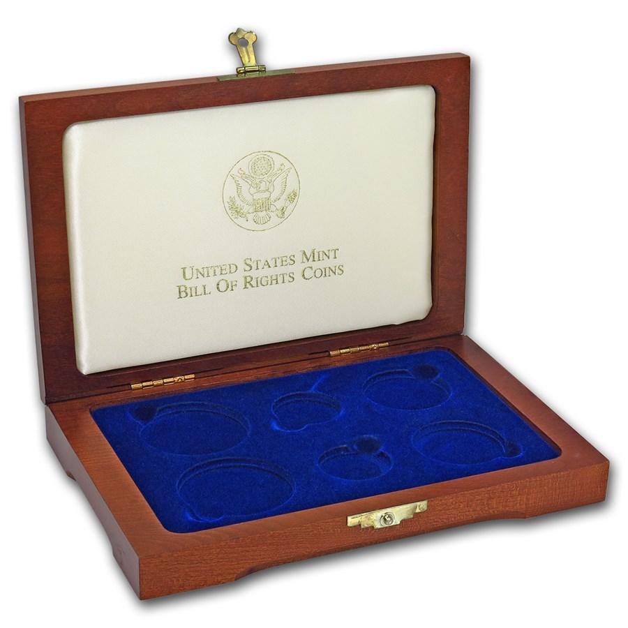 OGP Box & COA - 1993 6-Coin Bill of Rights Commemorative Set