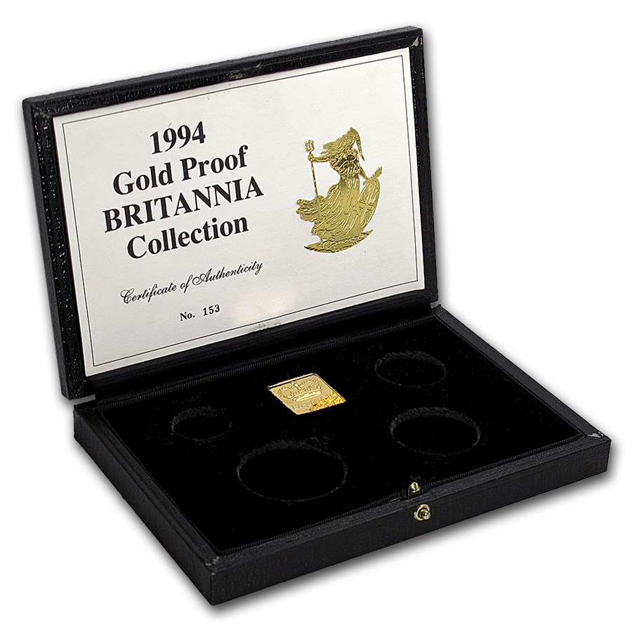 OGP Box & COA - 1994 Proof Gold Britannia 4-Coin Set
