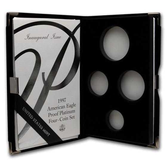 OGP Box & COA - 1997 Proof 4-Coin Platinum Eagle Set (Empty)