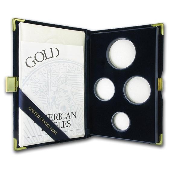 OGP Box & COA - 1998 4-Coin Proof Gold American Eagle Set