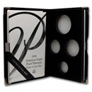 OGP Box & COA - 1998 Proof 4-Coin Platinum Eagle Set (Empty)