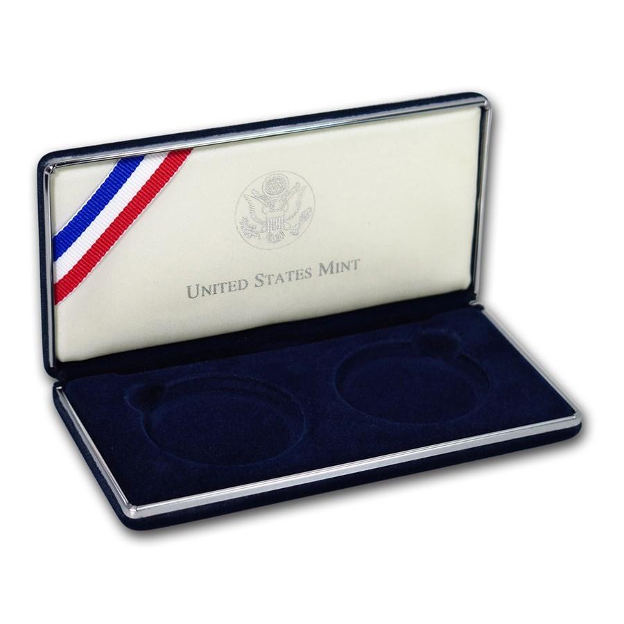 OGP Box & COA - 2001 2-Coin American Buffalo Commem PF/UNC Set