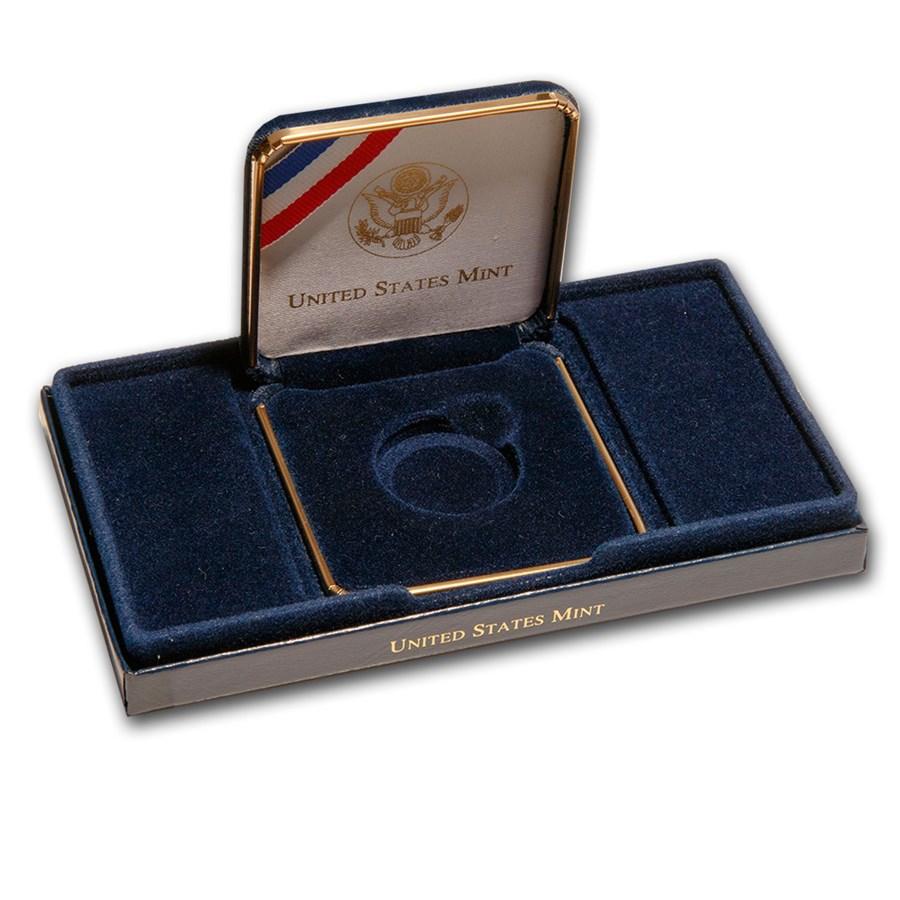 OGP Box & COA -2001-W U.S. Capitol Visitor Center $5 Gold BU