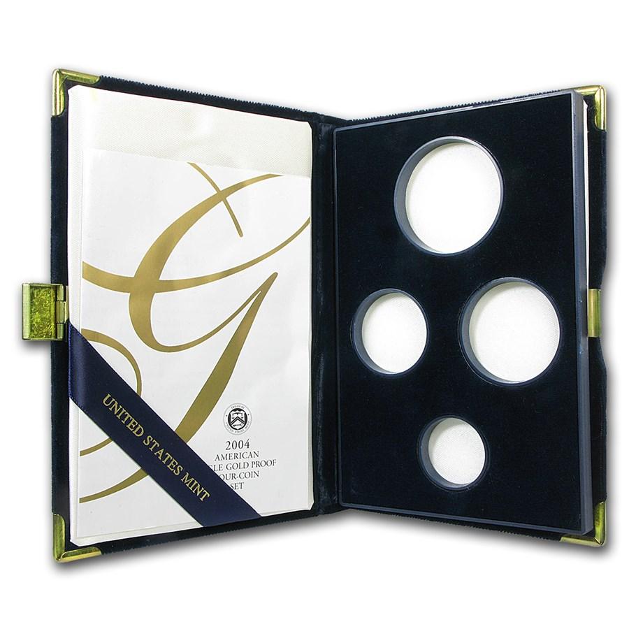 OGP Box & COA - 2004 4-Coin Proof Gold Eagle Set