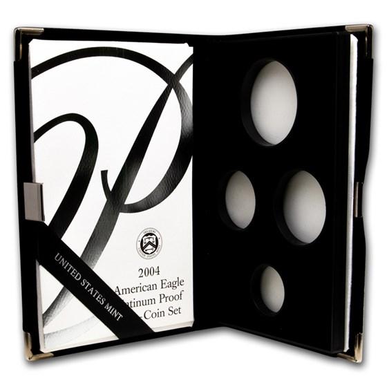 OGP Box & COA - 2004 Proof 4-Coin Platinum Eagle Set (Empty)