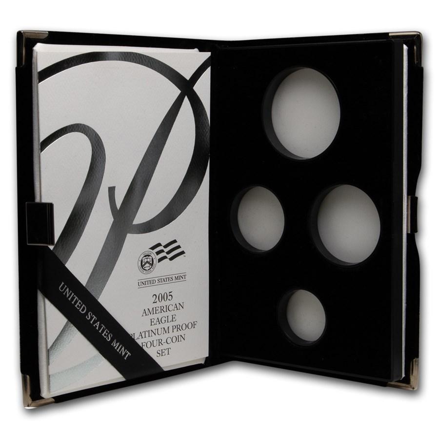 OGP Box & COA - 2005 Proof 4-Coin Platinum Eagle Set (Empty)