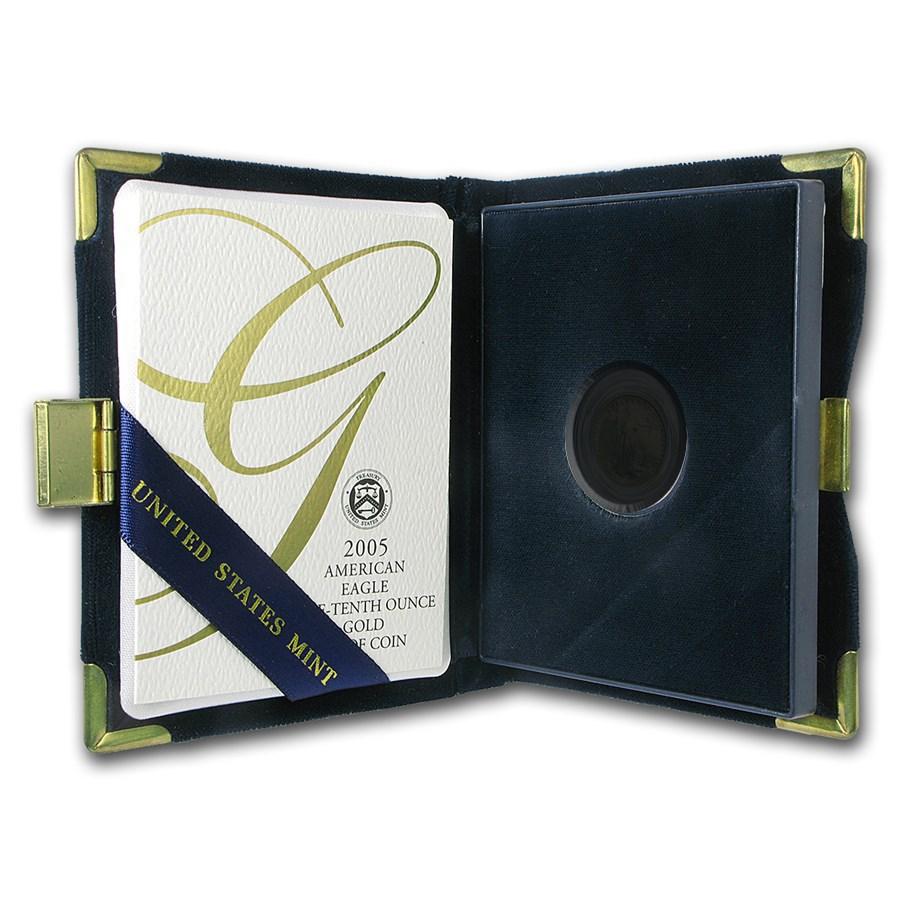 OGP Box & COA - 2005 (W) 1/10 oz PF Gold American Eagle (Empty)