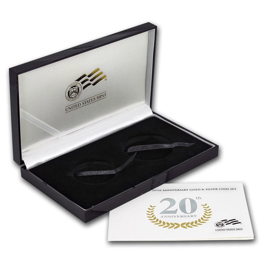 OGP Box & COA - 2006 20th Anniversary 2-Coin American Eagle Set