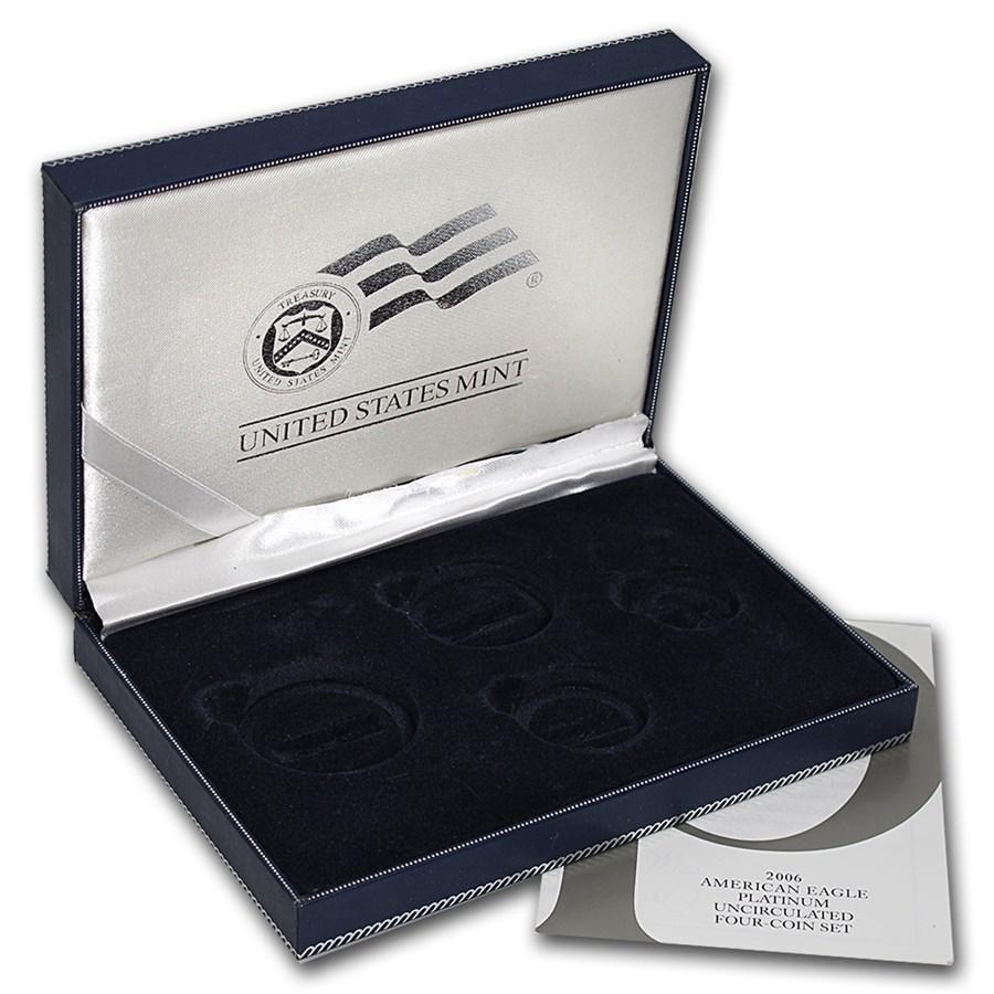 OGP Box & COA - 2006 4-Coin Burnished Platinum Eagle Set (Empty)