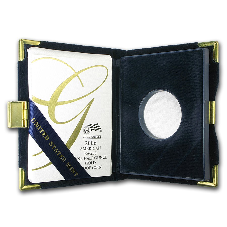 OGP Box & COA - 2006-W 1/2 oz Proof Gold American Eagle