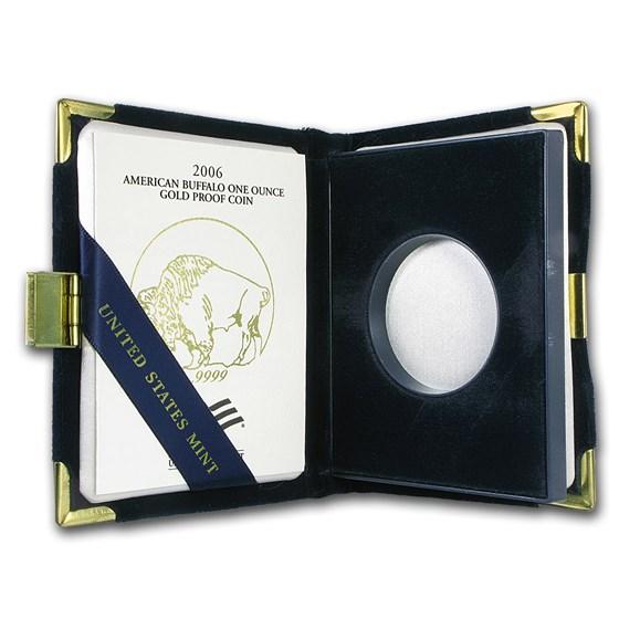 OGP Box & COA - 2006-W Proof 1 oz Gold Buffalo (Empty)