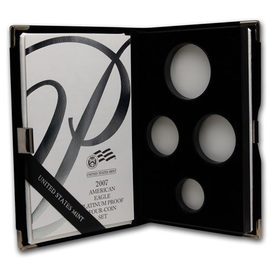 OGP Box & COA - 2007 Proof 4-Coin Platinum Eagle Set (Empty)