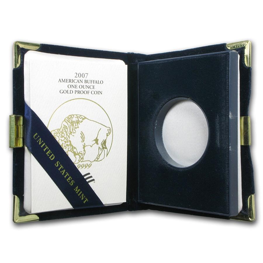 OGP Box & COA - 2007-W Proof 1 oz Gold Buffalo (Empty)