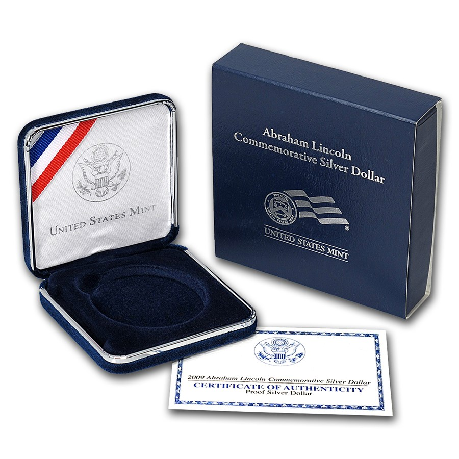 OGP Box & COA - 2009 U.S. Mint Abraham Lincoln Prf Silver Dollar