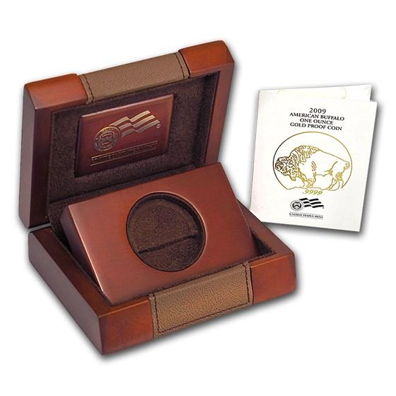 OGP Box & COA - 2009-W Proof 1 oz Gold Buffalo (Empty)
