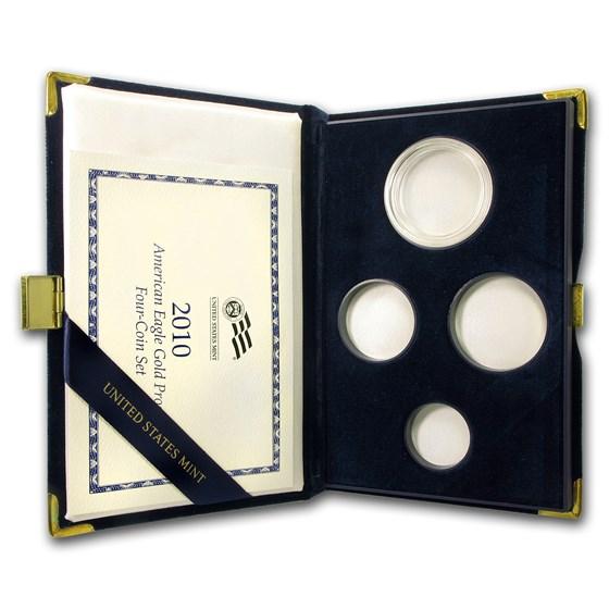 OGP Box & COA - 2010-W 4-Coin Proof Gold Eagle Set (Empty)