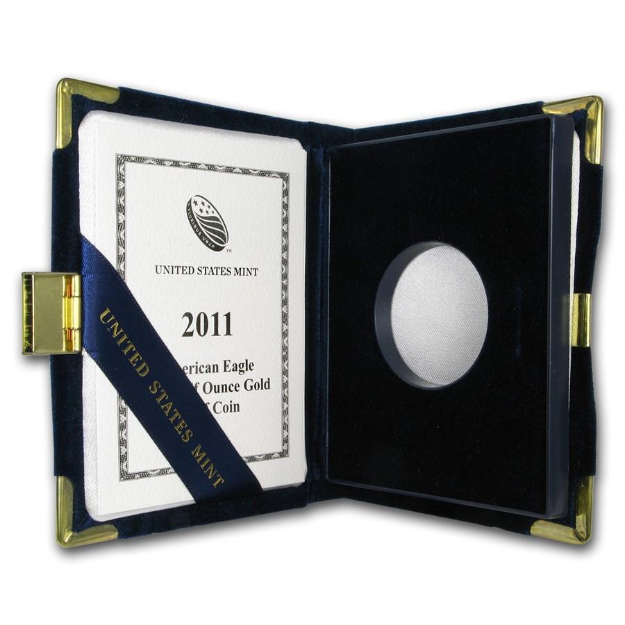 OGP Box & COA - 2011 (W) 1/2 oz Proof Gold American Eagle