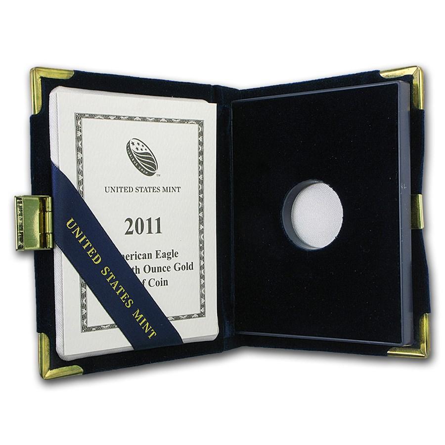OGP Box & COA - 2011-W Proof 1/10 oz Gold Eagle