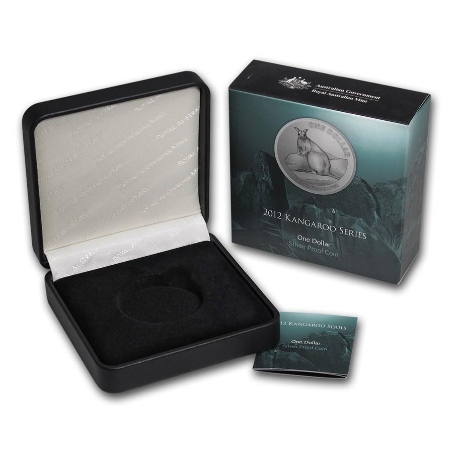 OGP Box & COA - 2012 RAM Silver Proof Kangaroo 1 oz Coin