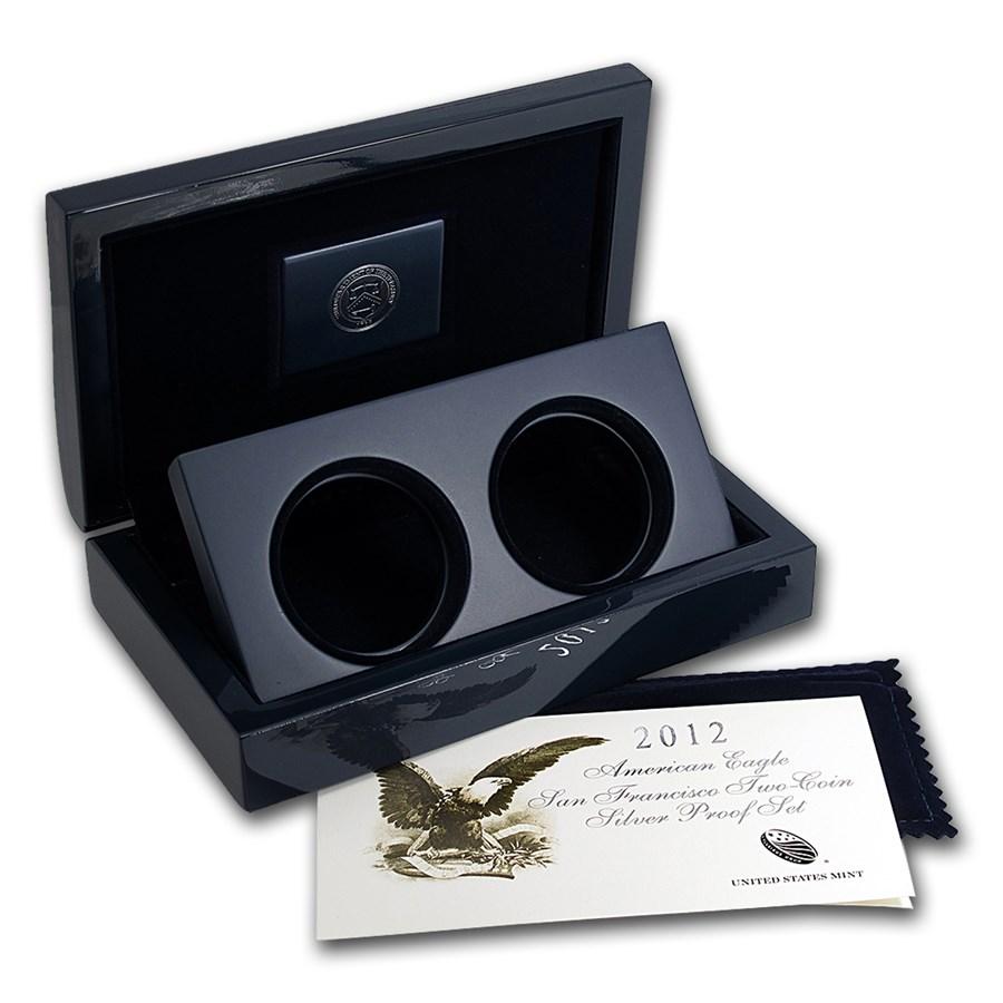 OGP Box & COA - 2012 U.S. Mint 2-Coin San Francisco Eagle PF Set