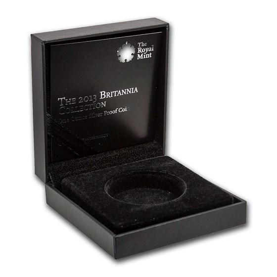 OGP Box & COA - 2013 Britain 1 oz PF Silver Britannia (Empty)