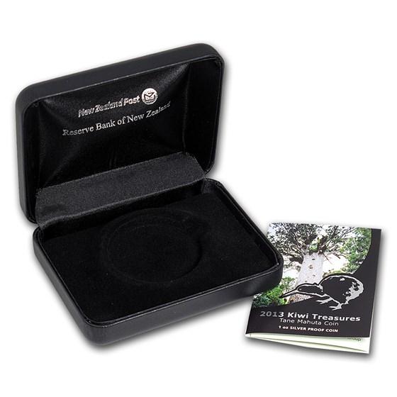 OGP Box & COA - 2013 New Zealand 1 oz Silver Treasures $1 Kiwi PF