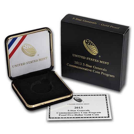 OGP Box & COA - 2013 U.S. Mint 5 Star General Gold Proof Coin