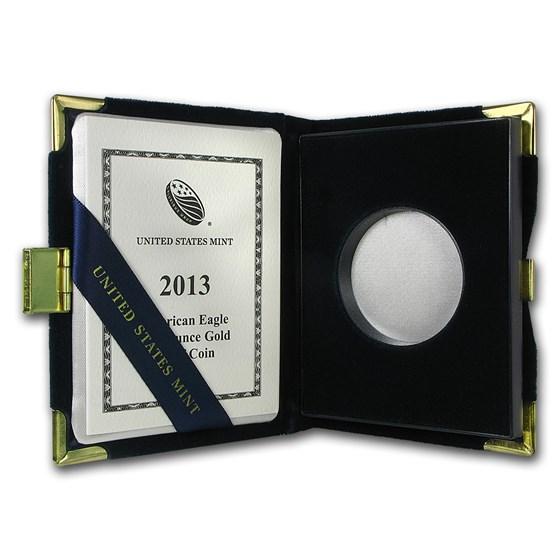 OGP Box & COA - 2013 (W) 1 oz Proof Gold American Eagle (Empty)