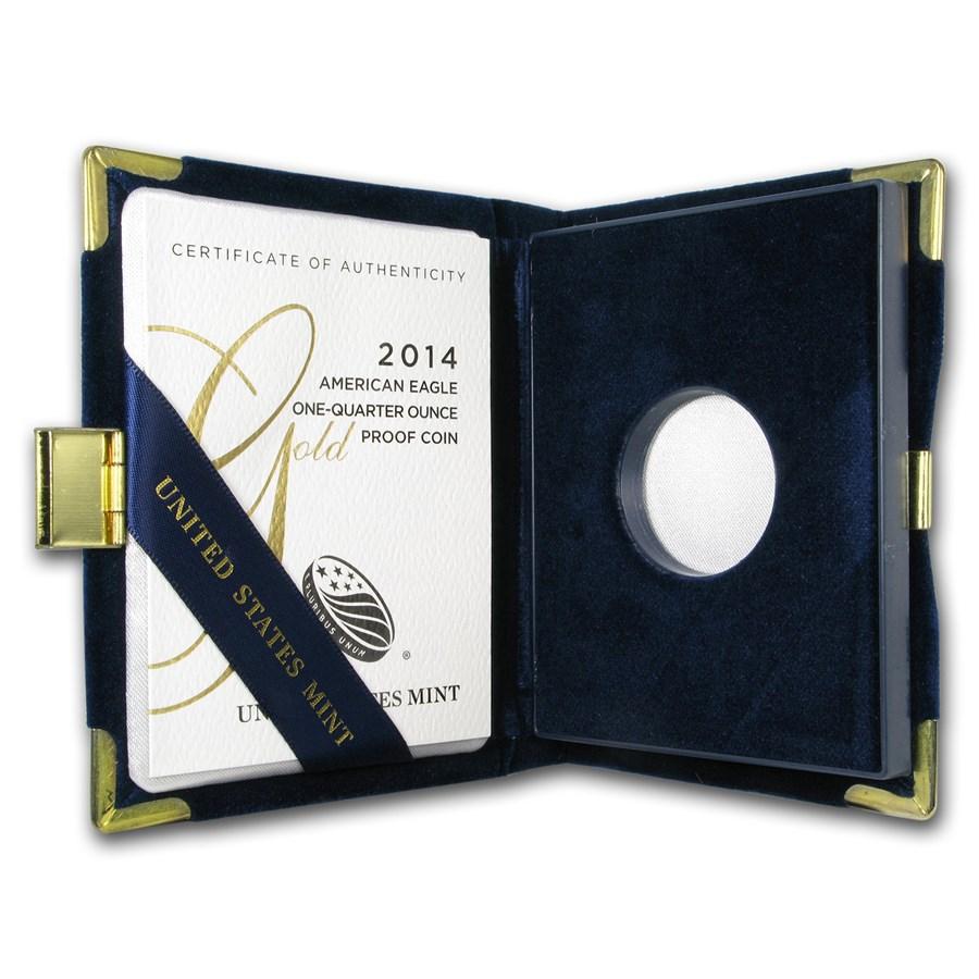 OGP Box & COA - 2014 1/4 oz Proof Gold American Eagle