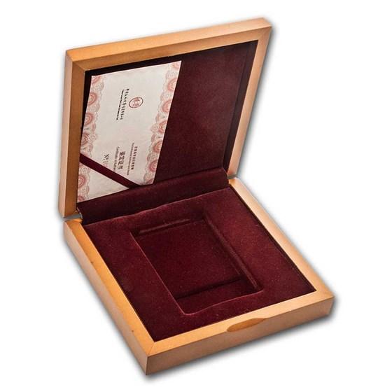 OGP Box & COA - 2014 1 oz Gold Panda PF (Smithsonian Zoo) (Empty)