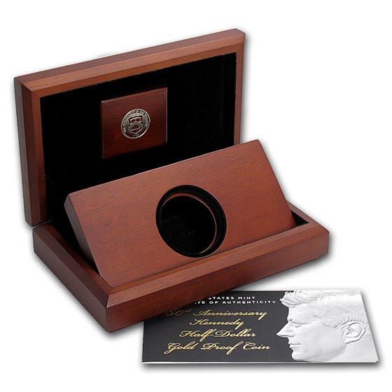 OGP Box & COA - 2014 50th Anniv. Kennedy Half-Dollar Gold Coin