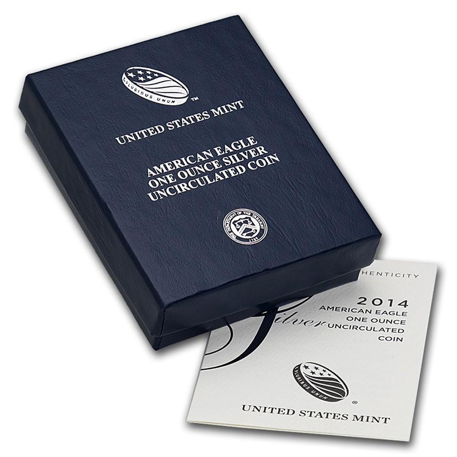 OGP Box & COA - 2014 Silver American Eagle Burnished (Empty)