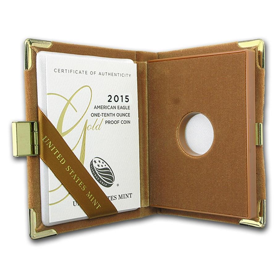 OGP Box & COA - 2015 1/10 oz Proof Gold American Eagle
