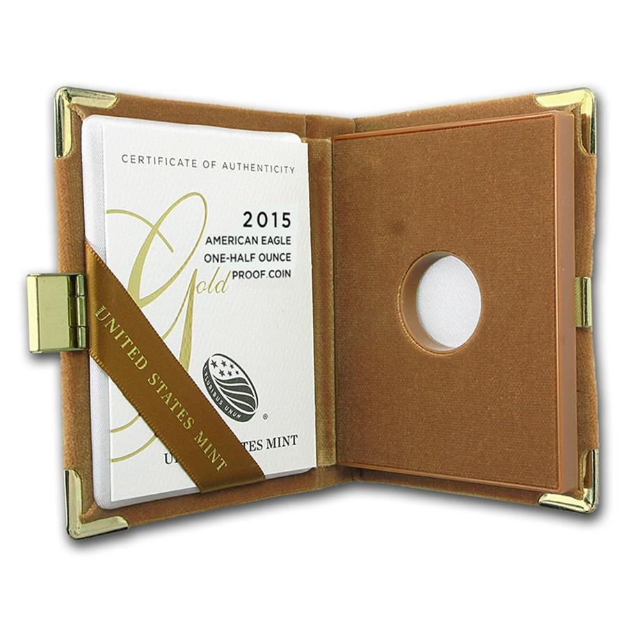OGP Box & COA - 2015 1/2 oz Proof Gold American Eagle